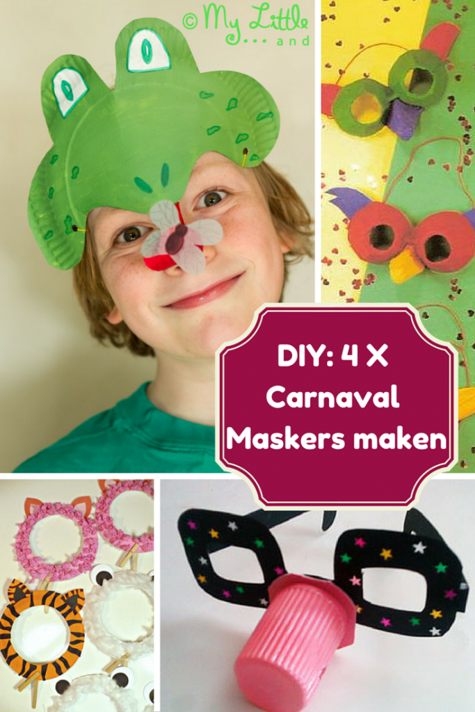 DIY: 4 x carnaval maskers maken