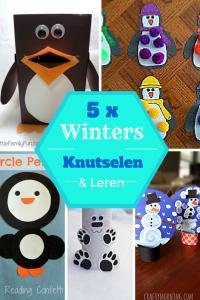 5 x winters kleuren en leren