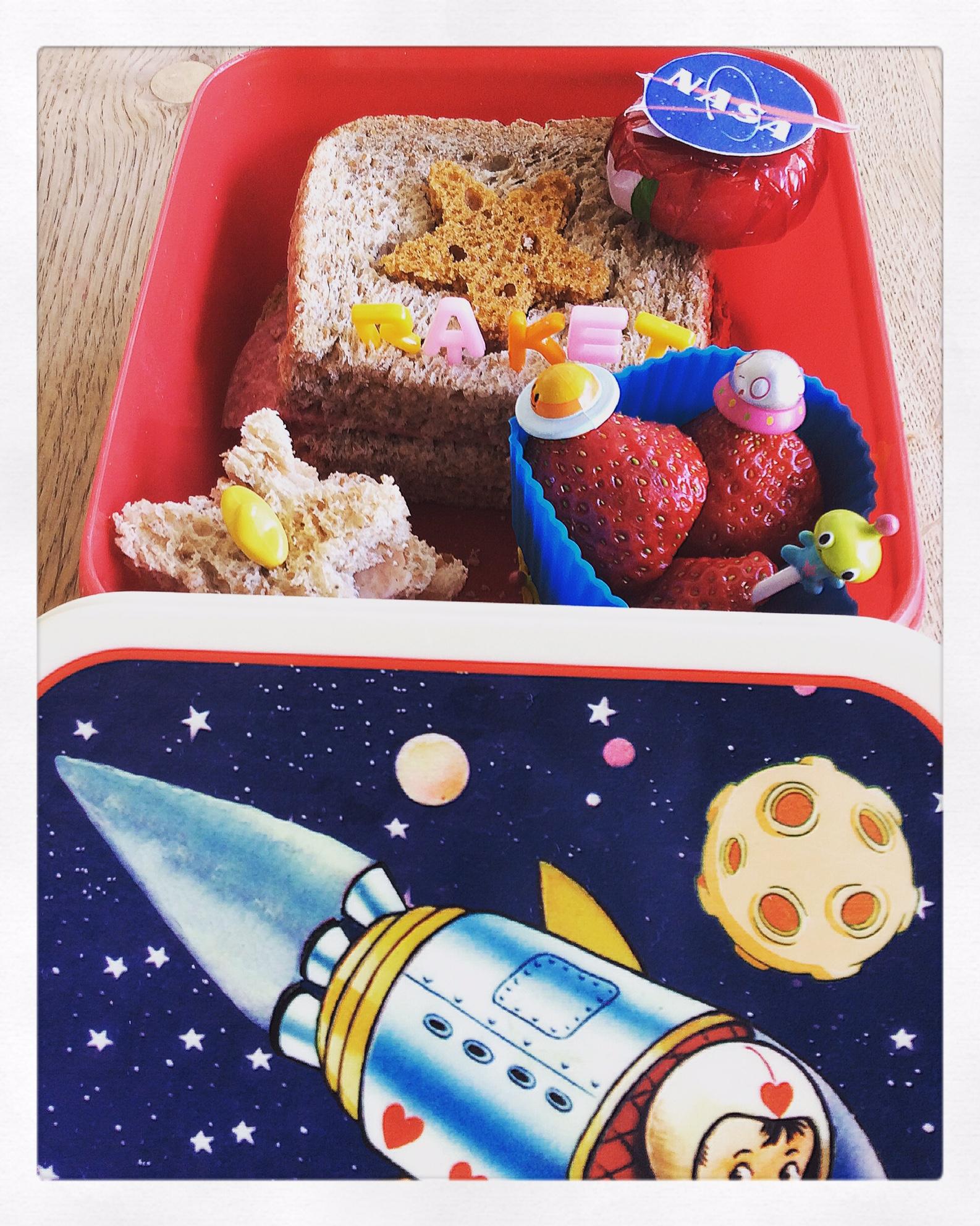 ruimteraket broodtrommel jongens