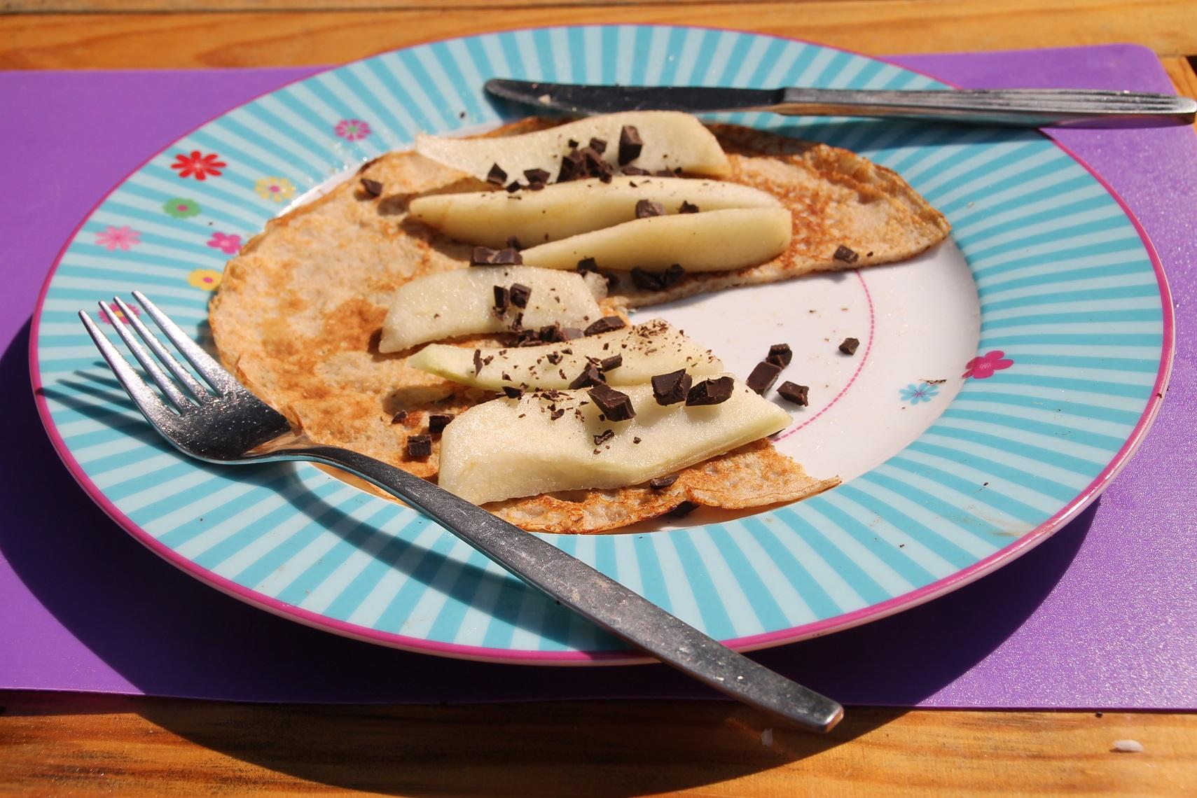 brintapannenkoek peer chocola