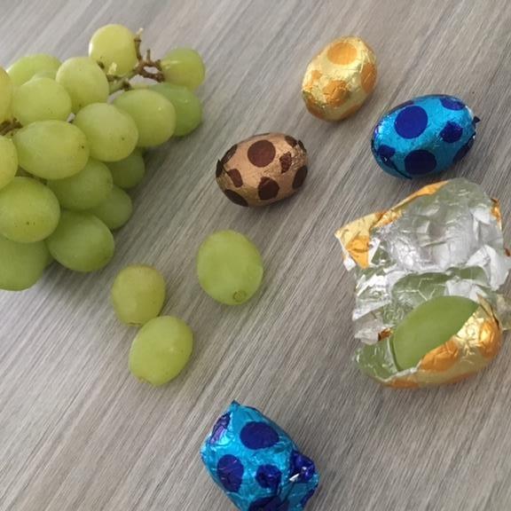 grapjes druiven paaseitjes