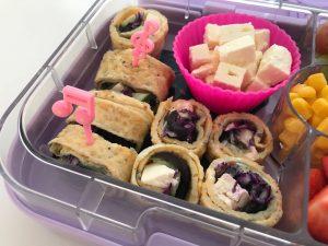 Gezonde tussendoortjes kinderen op school omeletrolletjes lunch
