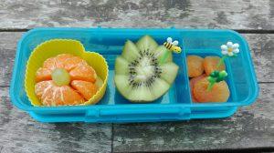 Tips pauzehap tienuurtje kiwi mandarijn school kinderen De Leukste Lunch gezond fruit groente
