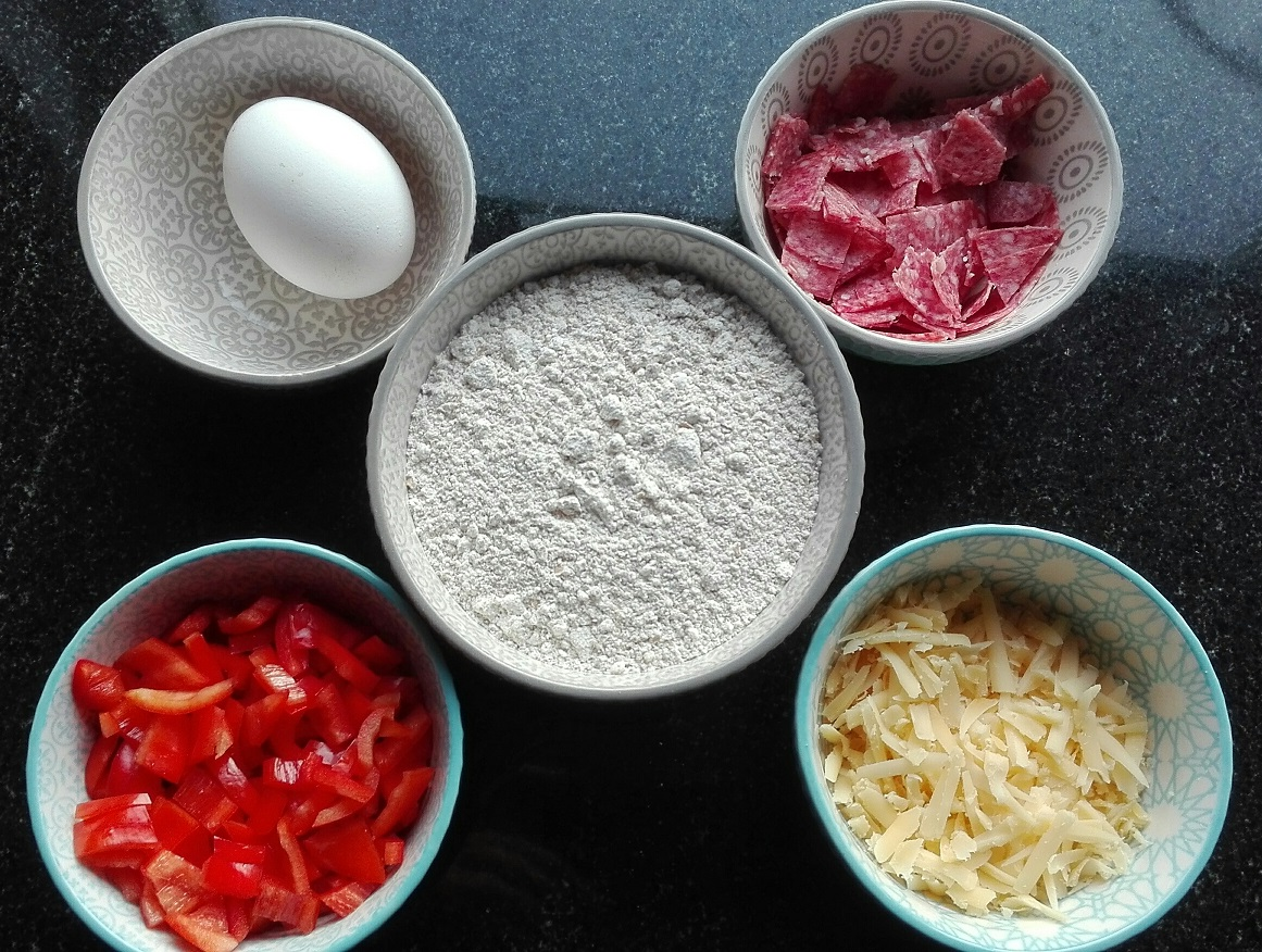 ingredienten pizza muffins lunchtrommel