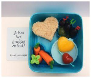 Dag van de Leraar lunch voor leerkrachten juf meester school bentobox kinderen bedanken broodtrommel briefje