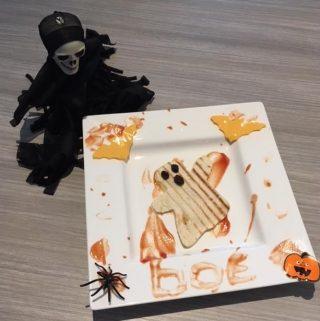 bento monkey platter halloween