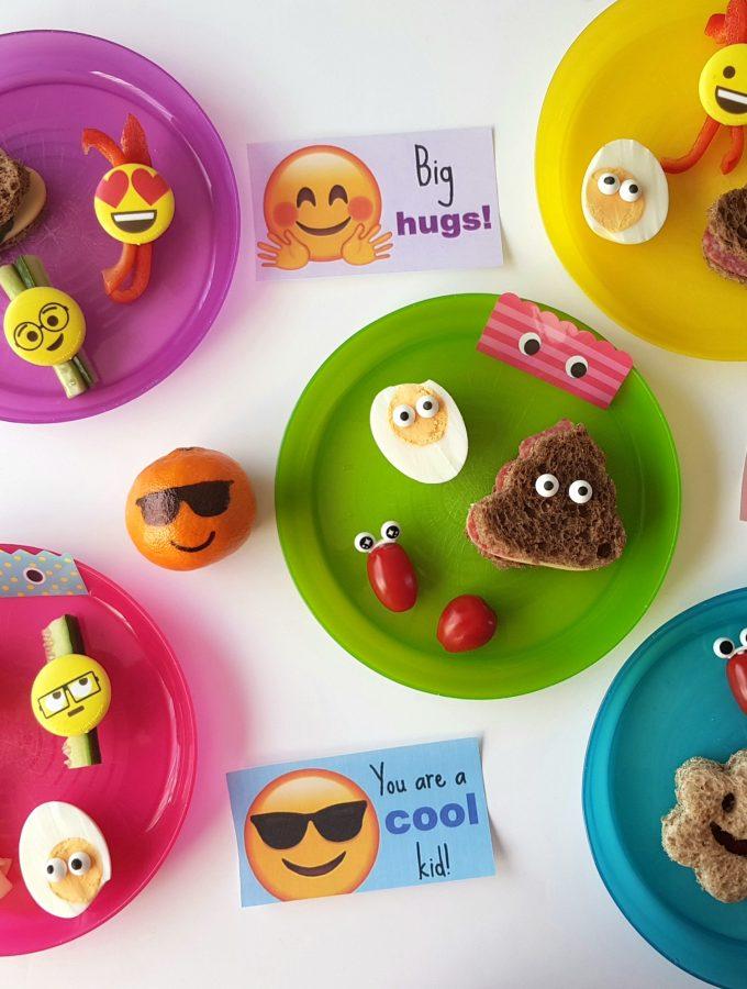 emoji lunchpakket bento