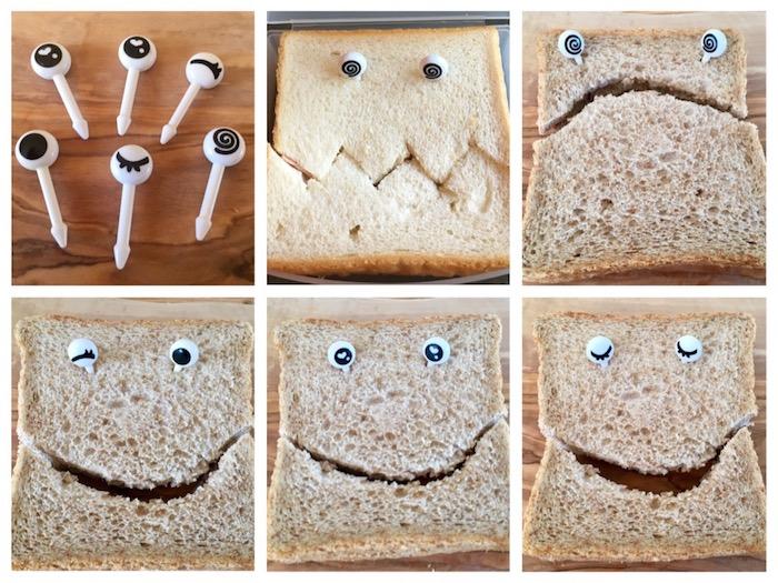 bento oogjes gezichtje brood