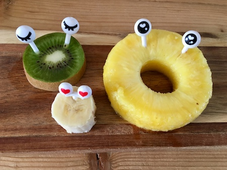 bento oogjes gezichtje fruit