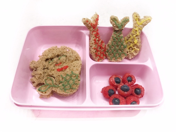 zeemeermin bento mermaid lunch punch